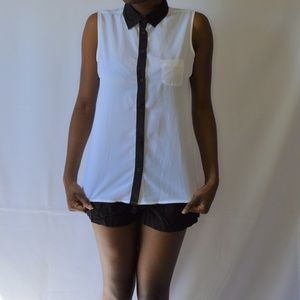 George Black and White Button Down Shirt